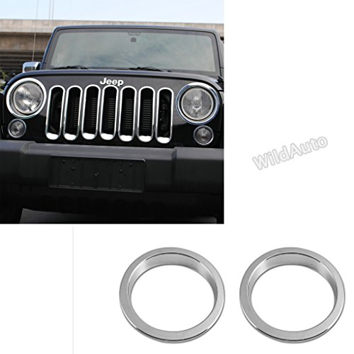 WildAuto – Turn Signal Light Fog Light Cover Ring Trim – For Jeep Wrangler JK 2007-2017 – One Set ( 2 pcs )