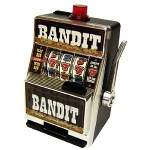 - BANDIT SLOT MACHINE SAVINGS BANK by 610 Products by 610 Products