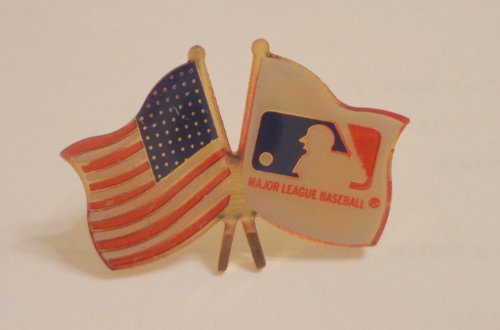 Enamel Baseball (Original MLB LOGO & Baseball American USA Flag Enamel Hat Lapel Logo Pin)