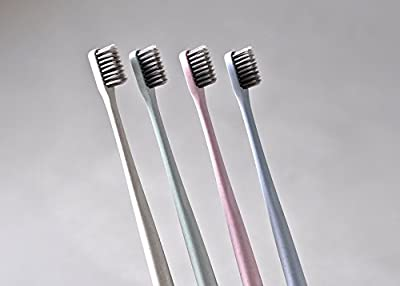 Extra Soft Toothbrush for Adults and Children: Eco-friendly & Biodegradable Toothbrush- 4 Pack