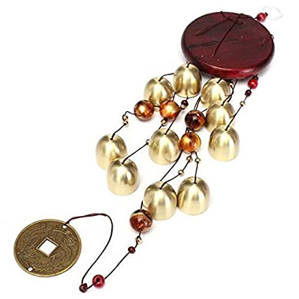 ShopNgift Unique Brass Metal & Wooden Wind Chime