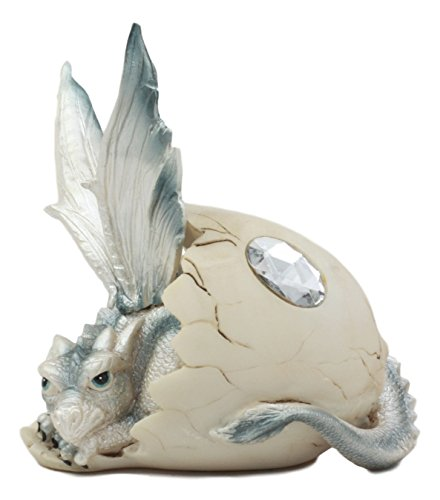 Ebros June Birthstone Dragon Egg Statue 5