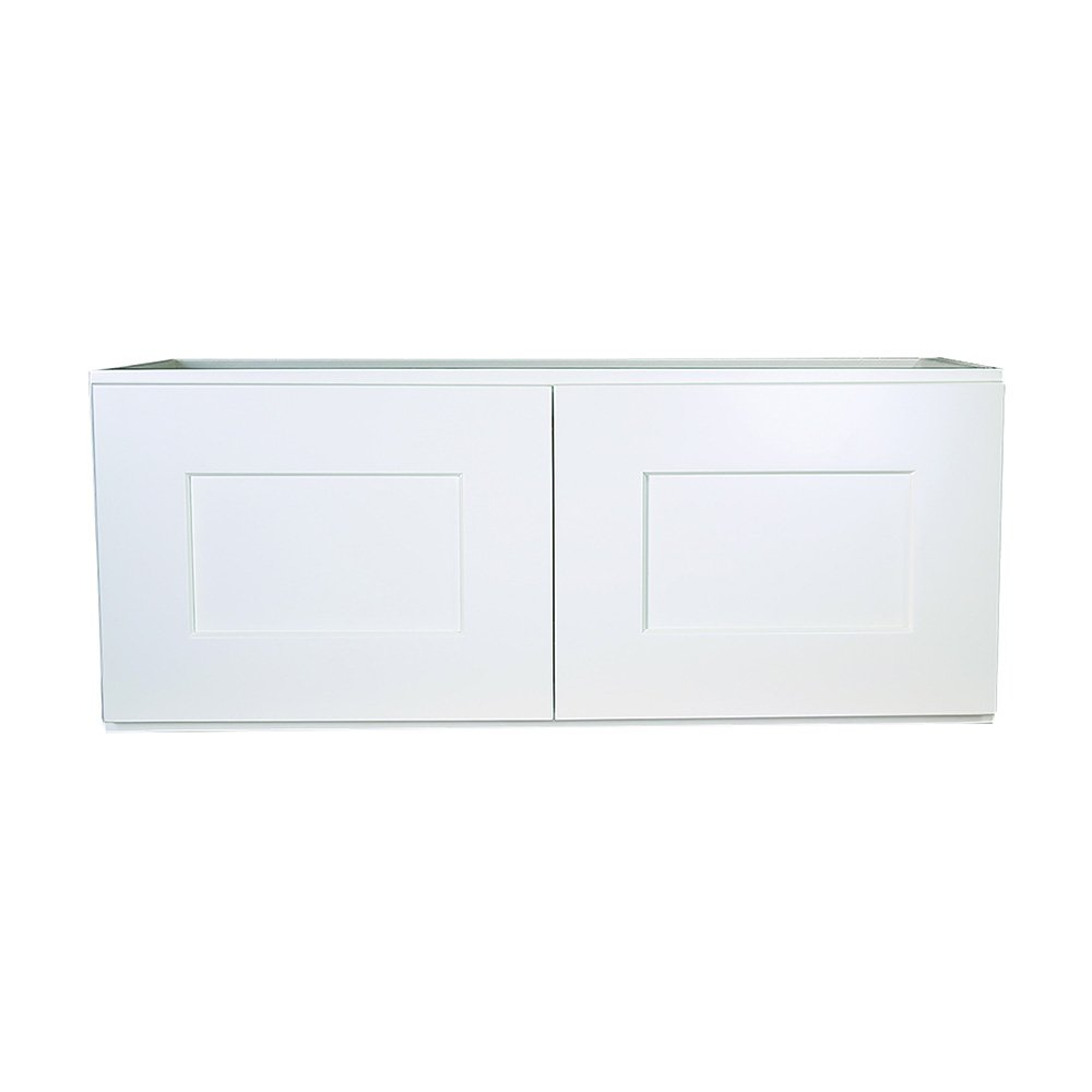 Design House Ready to Assemble Style 2-Door 543322 Brookings Unassembled Shaker Bridge Wall Kitchen Cabinet 36x21x12, White, 21 in in,