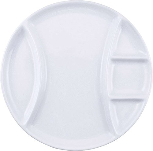 Swissmar Set of 4 White Fondue Plates F 77105