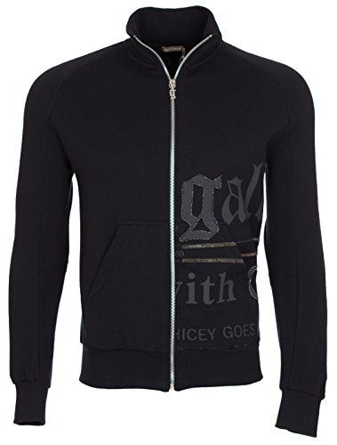 john-galliano-mnes-black-glitter-zip-up-sweatshirt-black-m