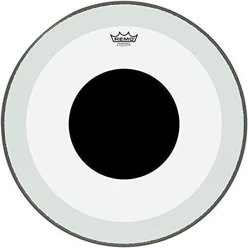 Remo P31320-10 Clear Powerstroke 3 Bass Drum Head - 20-Inch - Black Dot - Remo Powerstroke 3 Black Resonant