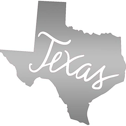 ANGDEST Texas MAP (Metallic Silver) (Set of 2) Premium Waterproof Vinyl Decal Stickers for Laptop Phone Accessory Helmet CAR Window Bumper Mug Tuber Cup Door Wall Decoration