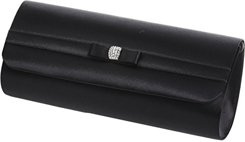 with clutch band small Ivory diamante and Ladies bag horizontal Black 5vYZtIwxq