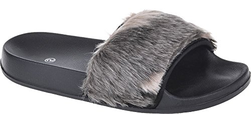 ladies womens flats flip flops slip on comfy slider slipper rubber sandals 3-8 Multi rAOCoBJz9h