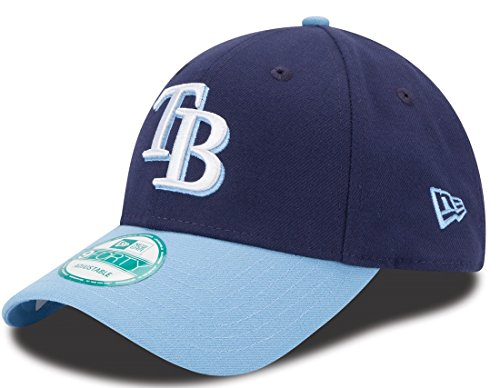 MLB Tampa Bay Rays The League 2Tone 9FORTY Adjustable Cap, One Size, Navy - Baseball Tampa Cap Bay