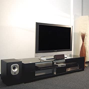 TV-Unterschrank Glas TV Board Lowboard Phonomöbel: Amazon.de: Küche ...