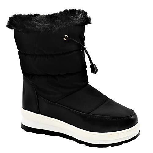 Best Small Feet Black Slide On Western Bailey Fleece Ski Boot Shoe for Sale Women Ladies (Black Size 6) ()