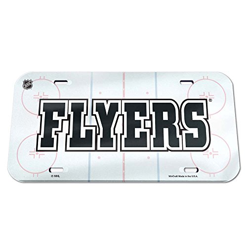 (WinCraft NHL Philadelphia Flyers Crystal Mirror Rink License Plate, Team Color, One)