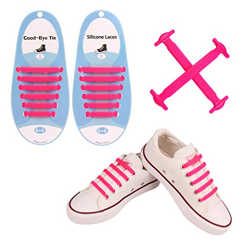 UJNet Tieless Shoelaces for Kids: Quick Tie Laces with Fashion Elastic Rubber for Baby Angel Girl