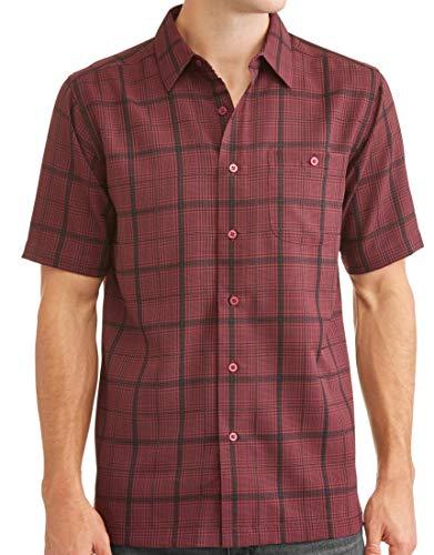 Men's Short Sleeve Microfiber Shirt (X-Large 46/48, Wine ()