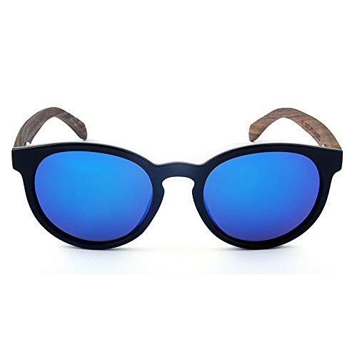 et Yxsd Silver de Blue UV Lunettes Bois Lunettes Lunettes Eye en Mode de de Hommes ovales Soleil Lunettes Soleil Cat Couleur Vintage Soleil bloquant Femmes pour Polarisées 8q84wHr