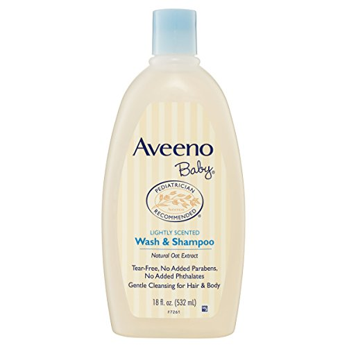 Aveeno Baby Wash & Shampoo For Hair & Body, Tear-Free, 18 (Aveeno Skin Body Wash)