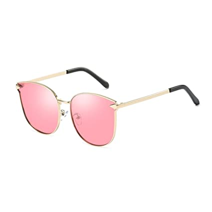 451b29a551 Amazon.com  LIZHIQIANG Sunglasses Polarized Sunglasses Sunglasses Glasses  Retro Lens Driving Mirror (Color   Pink)  Home   Kitchen