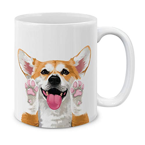 MUGBREW Cute Red Pembroke Welsh Corgi Full Portrait Ceramic Coffee Gift Mug Tea Cup, 11 OZ ()