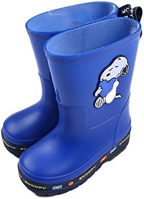 Lemonkid Kids Snow Rain Boot Waterproof Non Slip Printed Cartoon Easy Slip on Warm Shoes