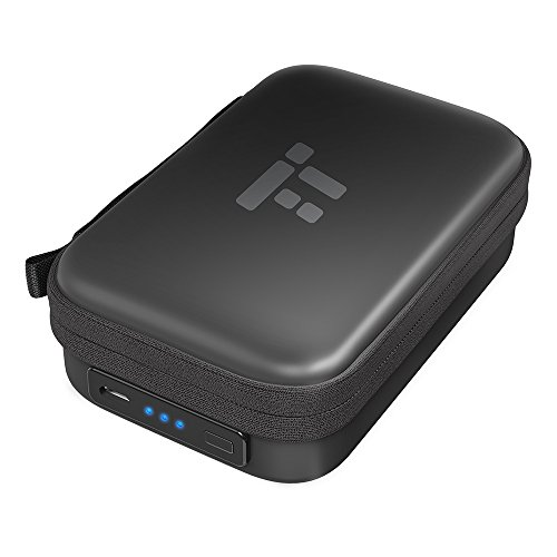 TaoTronics Charging Case for Bluetooth Headphones Wireless Headphones with Built-in Rechargeable Battery, LED Battery Indicator & Elastic Mesh Pocket