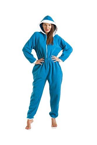 Pijama supersuave de una pieza - Con capucha - Azul Azul