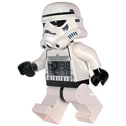 LEGO Watches Star Wars Stormtrooper Kids Minifigure Light Up Alarm Clock (White)