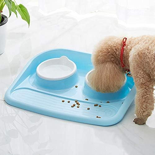 CWYSJ Pet Food Spritzwassergeschütztes Hundenapf, Welpen Futternapf, abnehmbar und waschbar Dicht Cat Bowl, Tresor Pet Supplies