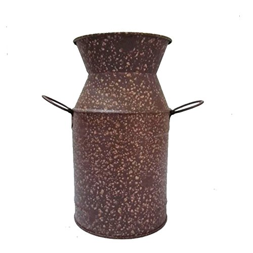 Watering Honey Galvanized Old Milk Can Country Rustic Primitive Jug Vase for Wedding - Country Jug