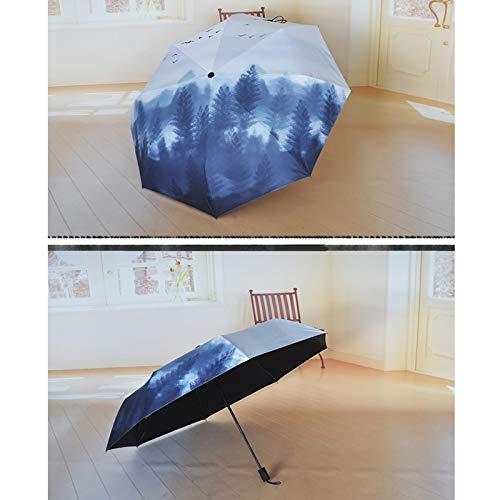 LLKOZZ Paraguas Plegables de Gran tamaño, Paraguas de Lluvia ...