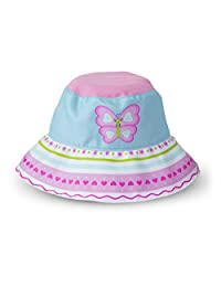 dddc65f9 Melissa & Doug Sunny Patch Cutie Pie Butterfly Hat with Wide Brim for Sun  Protection
