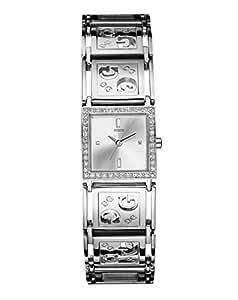 Guess G Perf W80007L1 - Reloj de mujer de cuarzo (japonés), correa de acero inoxidable color plata