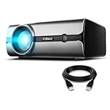 """Projector, CiBest BL45 LED Video Projector +20% Lumens for 170"""" Home Theater Support HD 1080P HDMI VGA AV USB for Laptop iPhone/iPad Smartphone TV Stick Xbox, 2018 Newest Upgraded Home Mini Projector"""