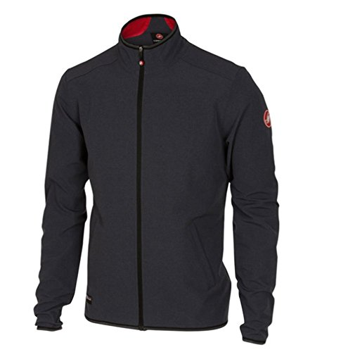 Castelli Race Day Track Jacket - Men's Anthracite, L (Race Nylon Jacket Team)