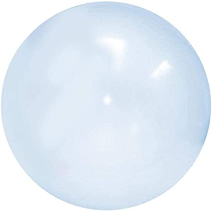 Pelota de Playa Gigante Inflable, Super Burbuja Burbuja Resistente al desgarro, Parece una Burbuja, Juega como una Pelota, ABS TPR Látex Transparente Suave Firme Elástica Bola Juguetes para niños