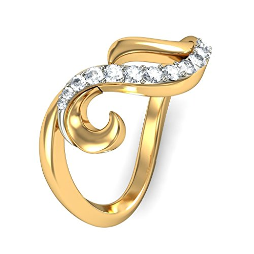 Or jaune 18 K, 0,2 CT TW Diamant Blanc (IJ | SI) en diamant