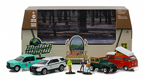 - Greenlight Motor World Multi-Car Dioramas - Campsite Cruisers United States Forest Services (Usfs) Edition (1:64 Scale) Vehicle