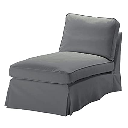 Elegant Replace Cover For IKEA Ektorp Chaise Lounge No Armrest Cover, 100% Cotton Sofa  Cover