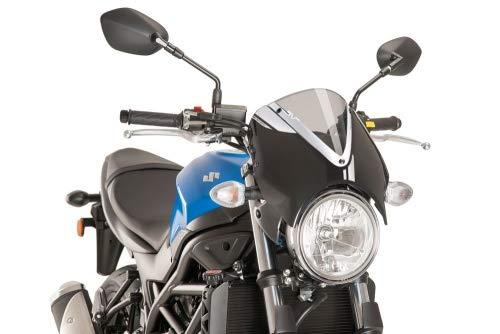 Puig 17-19 Suzuki SV650 RetroVision Windscreen (Black/Smoke)