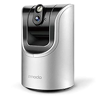 Zmodo 1.0 Megapixel 1280 x 720 Pan & Tilt Smart Wireless IP Network Security Camera Easy Remote Access Two-way Audio (Renewed)