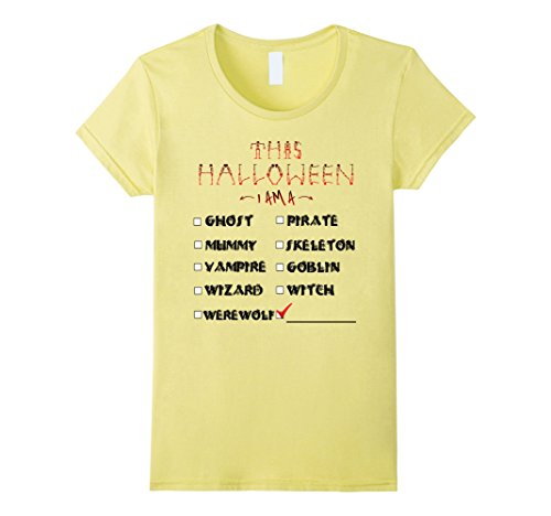 Womens Halloween Checklist Costume Funny Graphic Tshirt Tee Small (List Of Halloween Costumes For Women)