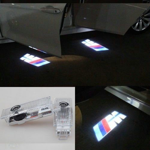 Flyox BMW Easy Installation LED Car Door Lighting Courtesy Laser Projector Logo Ghost Shadow Light for BMW 3 5 6 7 Series with M Logo ( 2 Pack )