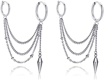 Linked Earring Stainless Cartilage Non Pierce