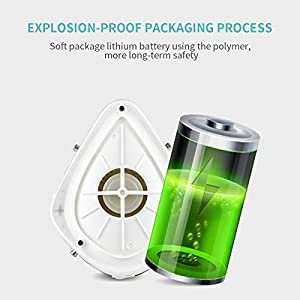 Belovedone 4-Ply Rechargeable Electric Purifier, Electric Respirator with Replaceable Activated Carbon Protect Layer for Adults, White (Fashion) (Color: White)