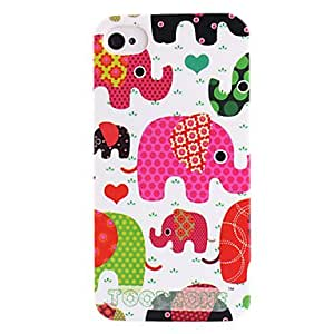 get Joyland Cartoon Elephant Pattern ABS Back Case for iPhone 4/4S(Assorted Color) , Black