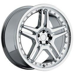 Replica Wheels M05 20 Chrome Wheel / Rim 5x100 with a 40mm Offset and a 63.3 Hub Bore. Partnumber - Chrome Rims Akuza