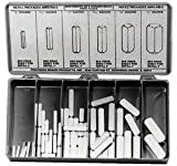Precision Brand 12955 58 Piece Machinery Key Assortment, Zinc Plated Steel, Plastic Compartment Box