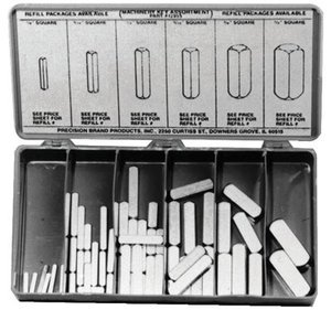 Precision Brand 12955 58 Piece Machinery Key Assortment, Zinc Plated Steel, Plastic Compartment Box by Precision Brand