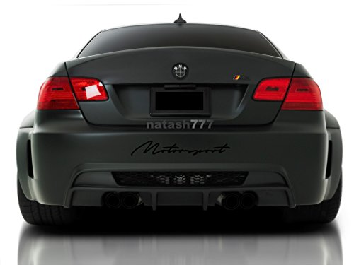 MOTORSPORT SPORT CAR RACING DECAL STICKER BUMPER LOGO EMBLEM (BLACK)