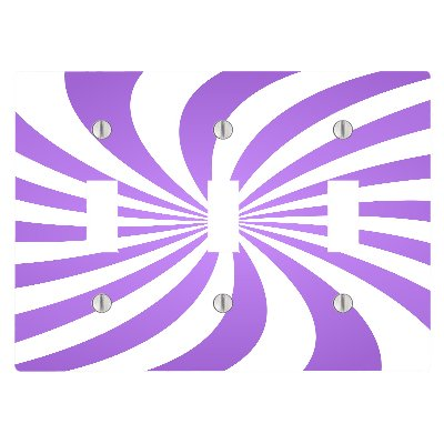(Lavendar Candy Swirl 3 Toggle Electrical Switch Wall Plate (6.56 x 4.69in))